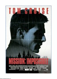 "Mission: Impossible (Paramount, 1996). One Sheet (27"" X 40""). Tom Cruise stars as Ethan Hunt, the leader of a..."