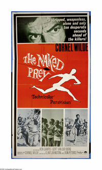 """The Naked Prey (Paramount, 1966). Three Sheet (41"""" X 81""""). Cornell Wilde is the only survivor of the massacre..."""