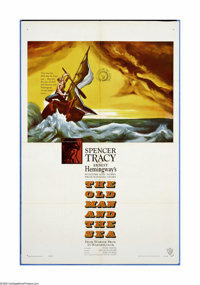 "The Old Man and the Sea (Warner Brothers, 1958). One Sheet (27"" X 41""). Spencer Tracy is the old fisherman who..."