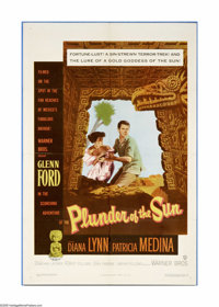 """Plunder of the Sun (Warner Brothers, 1953). One Sheet (27"""" X 41""""). An unscrupulous insurance adjuster is caugh..."""