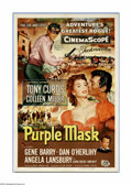 "Movie Posters:Adventure, The Purple Mask (Universal International, 1955). One Sheet (27"" X41""). After the French Revolution, a Royalist supporter ki..."
