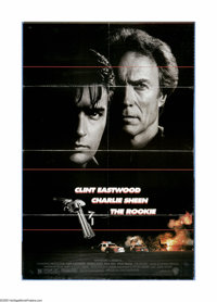 "The Rookie (Warner Brothers, 1990). One Sheet (27"" X 40""). Clint Eastwood plays a cop chasing down the head of..."