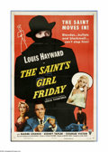 "Movie Posters:Crime, The Saint's Girl Friday (RKO, 1954). One Sheet (27"" X 41""). Whenthe Saint comes to visit a woman friend in London, he disco..."
