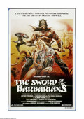 "Movie Posters:Adventure, The Sword of the Barbarians (Cannon, 1983). One Sheet (27"" X 41"").Sangraal, the ruler of a city overrun by barbarians, has ..."