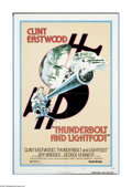"Movie Posters:Crime, Thunderbolt and Lightfoot (United Artists, 1974). One Sheet (27"" X 41""). Clint Eastwood plays a retired thief known as Thund..."