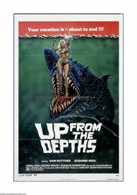 "Up from the Depths (New World Pictures, 1979). One Sheet (27"" X 41""). ""Oh my God, it's a monster fish!&qu..."
