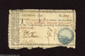 Colonial Notes:Georgia, Georgia 1777 $5 Good-Very Good. This scarce Blue Seal GeorgiaCannon note has rough edges and an approximate one inch tear, ...