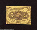 Fractional Currency:First Issue, Fr. 1230 5c First Issue Gem New. A bright yellow note with good embossing and enormous margins on all sides....
