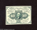 Fractional Currency:First Issue, Fr. 1242 10c First Issue Choice Crisp Uncirculated. But for the margins this is a very fresh and bright note with rich green...