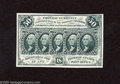 Fractional Currency:First Issue, Fr. 1313SP Narrow Margin Face 50c First Issue Superb Gem CrispUncirculated. An astounding narrow margin specimen with bold ...