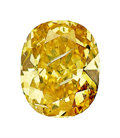 Estate Jewelry:Unmounted Diamonds, Unmounted Fancy Intense Orangy Yellow Diamond. ...