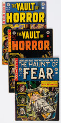 Golden Age (1938-1955):Horror, Haunt of Fear/Vault of Horror Group of 5 (EC, 1952-54) Condition:Average GD.... (Total: 5 Comic Books)