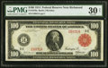 Large Size:Federal Reserve Notes, Fr. 1076a $100 1914 Red Seal Federal Reserve Note PMG Very Fine 30 Net.. ...