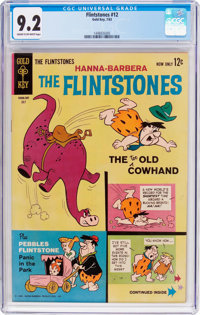 Flintstones #12 (Gold Key, 1963) CGC NM- 9.2 Cream to off-white pages