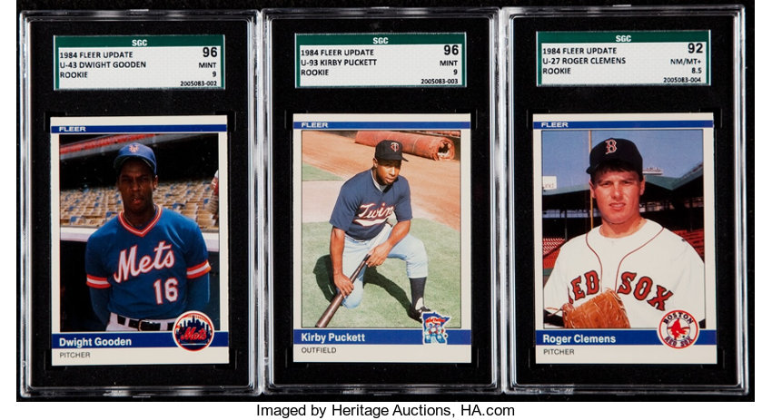 1984 Fleer Update Baseball High Grade Complete Set 132