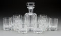 Decorative Arts, French:Other , A Thirteen-Piece Baccarat Glass Cocktail and Decanter Set. Marks:BACCARAT, FRANCE, (Baccarat cipher). 10 inches high (2...(Total: 13 Items)