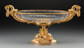 Other, A Louis XVI-Style Cut-Glass and Gilt Bronze Centerpiece Bowl, 20th century. 10-5/8 h x 20 w x 11-5/8 d inches (27.0 x 50.8 x...