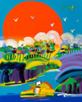 Paintings, Peter Max (American, b. 1937). Sunny Day. Acrylic on canvas. 30 x 24 inches (76.2 x 61.0 cm). Signed upper right: Max...