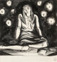 Rockwell Kent (American, 1882-1971) Seated Girl with Candles Ink on paper 7-1/2 x 6-3/4 inches (19.1 x 17.1 cm) (sigh...