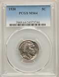 Buffalo Nickels, 1927 5C MS63 PCGS. This lot will also include the following: 1928 5C MS63 PCGS; and a 1930 5C MS64 PCGS. Mint... (Total: 3 coins)