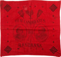 Political:Textile Display (pre-1896), Cleveland & Thurman: Jugate Bandana....