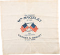 Political:Textile Display (1896-present), William McKinley: Silk Campaign Kerchief with Crossed AmericanFlags....