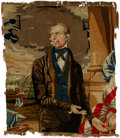 """Political:Textile Display (pre-1896), Henry Clay: """"Berlin"""" Needlepoint Portrait...."""
