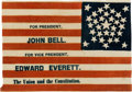 Political:Textile Display (pre-1896), John Bell: Minty Campaign Flag....