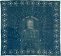 Political:Textile Display (pre-1896), Winfield Scott Hancock: Popular Constellation of Stars PortraitBandana....