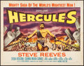 "Movie Posters:Action, Hercules (Warner Brothers, 1959). Half Sheet (22"" X 28"") Style A. Action.. ..."