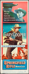 "Movie Posters:Western, Springfield Rifle (Warner Brothers, 1952). Rolled, Fine/Very Fine.Insert (14"" X 36""). Western.. ..."