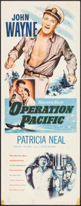 "Movie Posters:War, Operation Pacific (Warner Brothers, 1951). Insert (14"" X 36"").War.. ..."