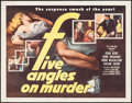 "Movie Posters:Mystery, Five Angles on Murder (Columbia, 1950). Half Sheet (22"" X 28"").Mystery.. ..."