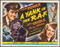 "Movie Posters:War, A Yank in the R.A.F. (20th Century Fox, 1941). Half Sheet (22"" X28"") Style A. War.. ..."