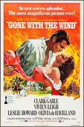 "Movie Posters:Academy Award Winners, Gone with the Wind (MGM, R-1974). One Sheet (27"" X 41"") Howard Terpning Artwork. Academy Award Winners.. ..."