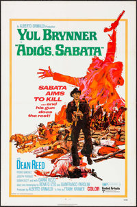 """Adios, Sabata & Others Lot (United Artists, 1971). Folded, Overall: Fine/Very Fine. One Sheets (4) (27"""" X 41&qu..."""