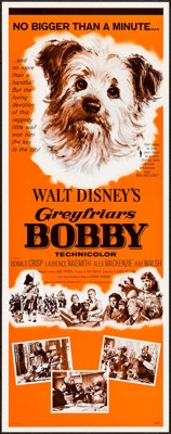 """Greyfriars Bobby: The True Story of a Dog & Other Lot (Buena Vista, 1961). Inserts (2) (14"""" X 36""""). Dr..."""