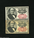Fractional Currency:Fifth Issue, Fr. 1308 and Fr. 1309 25c Fifth Issue Choice New. The long key notegrades Very Fine or so but the short key note is a broad... (2notes)