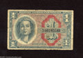 Military Payment Certificates:Series 611, Series 611 $1 Replacement Very Good. The edges of this replacement show several nicks along with one tear that penetrates th...