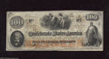 Confederate Notes:1862 Issues, T41 $100 1862. This is a Scroll 2 variety printed on plain paper.Extremely Fine....