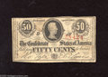 Confederate Notes:1863 Issues, T63 50 Cents 1863. This Confederate fractional is from the 1stSeries. Very Good....