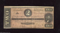 Confederate Notes:1864 Issues, T70 $2 1864. This red-tinted $2 is without edge tears and pinholes. Female signers of this Deuce are (Miss) E(mma) S. Read a...