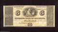 Obsoletes By State:Louisiana, New Orleans, LA- Citizens' Bank of Louisiana $100 18__ This pristine remainder was printed in both English and French. Ch...