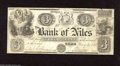 Obsoletes By State:Michigan, Niles, MI- Bank of Niles $3 Jan. 2, 1838 This is the second time we have offered this scarce bank in one of our bimonthly i...
