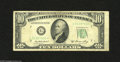 Error Notes:Foldovers, Fr. 2011-G* $10 1950A Federal Reserve Star Note. Fine. This notegives us a neat printed fold error as well as an obstructi...
