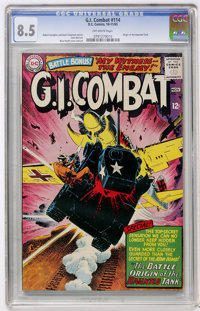 G.I. Combat #114 (DC, 1965) CGC VF+ 8.5 Off-white pages