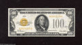 Small Size:Gold Certificates, Fr. 2405 $100 1928 Gold Certificate. Very Fine-Extremely Fine. $100 Golds are truly scarce, with this example sure to foot ...