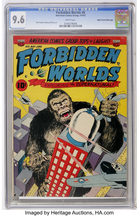 Forbidden Worlds #6 Mile High pedigree (ACG, 1952) CGC NM+ 9.6 White pages....