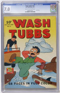 Golden Age (1938-1955):Adventure, Four Color #11 Wash Tubbs (Dell, 1942) CGC FN/VF 7.0 Cream to off-white pages....
