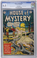 Golden Age (1938-1955):Horror, House of Mystery #1 (DC, 1952) CGC FN+ 6.5 Off-white pages....
